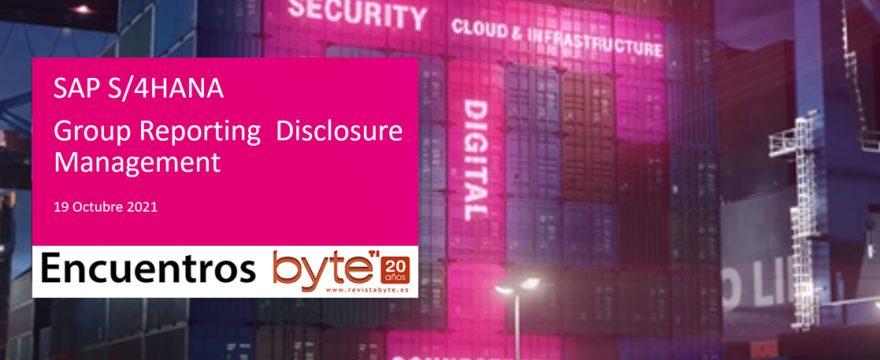 SAP Group Reporting + SAP Disclosure Management